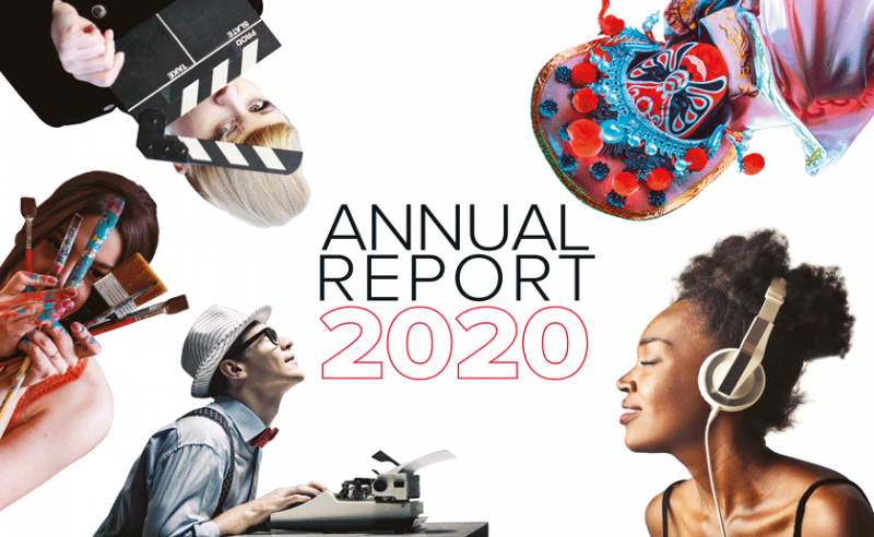 CISAC 2020 Annual Report Cover